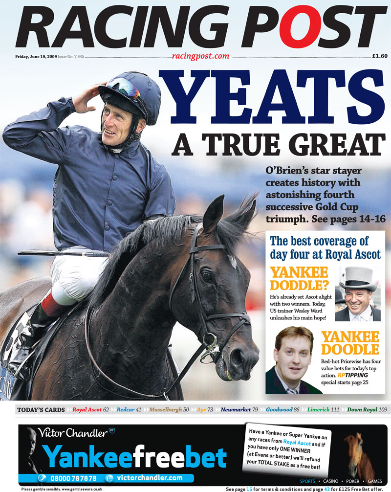Front Cover Of Racing Post